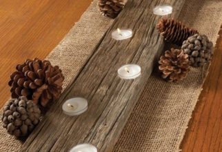 5PF - Rustic Lit Candle Holder