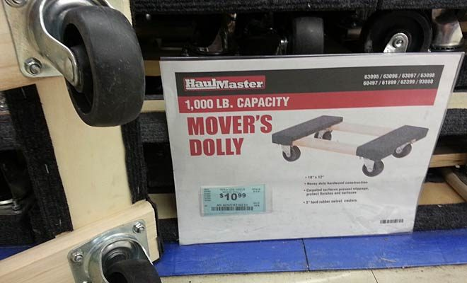 Harbor Freight Mover's Dolly with caster wheels
