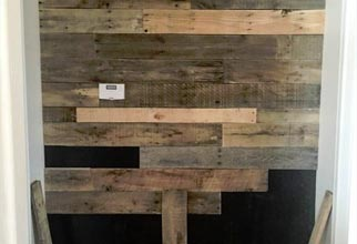 4PF - glued on pallet wall