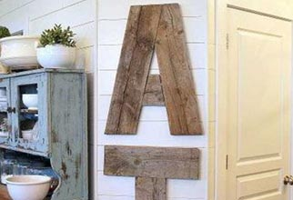 4PF - kitchen sign letters