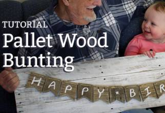 DIY pallet wood bunting tutorial