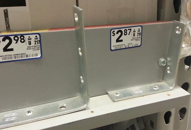 corner braces for sale at Lowe's