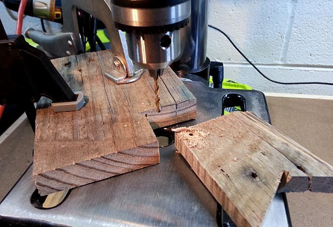 drill press jig for drilling repeated holes