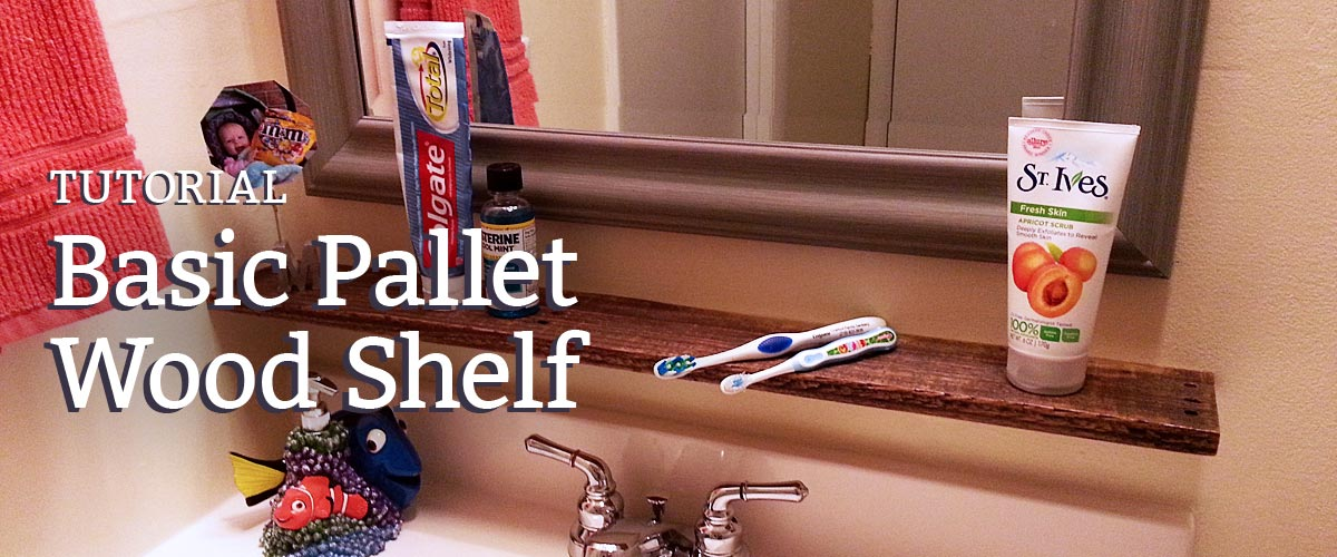 How to build the most basic pallet wood shelf.