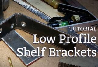 how to make low profile shelf brackets