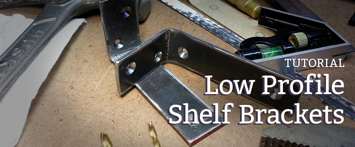 how to make low profile shelf brackets