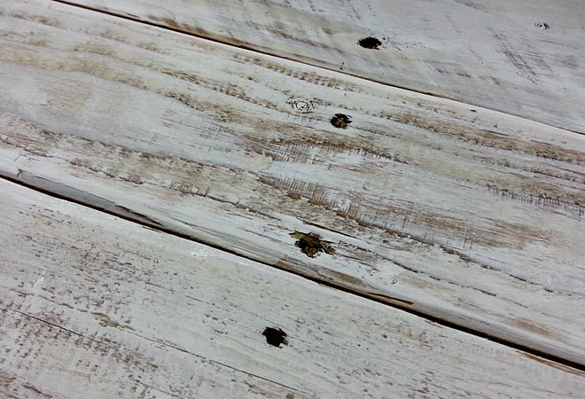 whitewashed pallet board banner