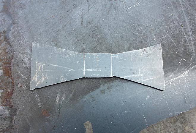 metal bow tie rough cut