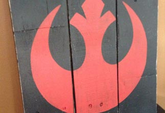 4PF - Rebel Alliance pallet sign