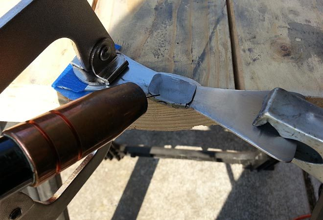 welding the back tab