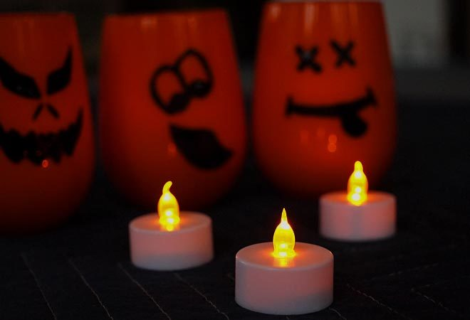 flickering LED votive candles