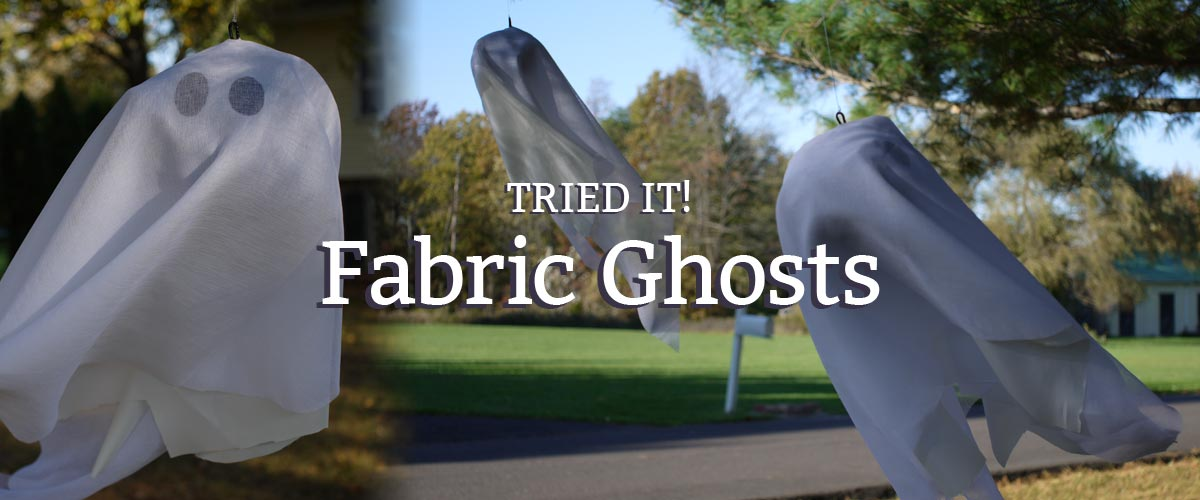 how to make fabric ghosts to hang in your yard