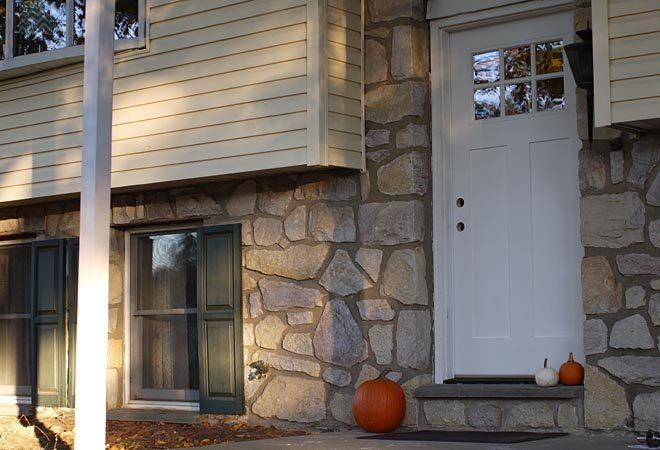 new door before electronic deadbolt installed