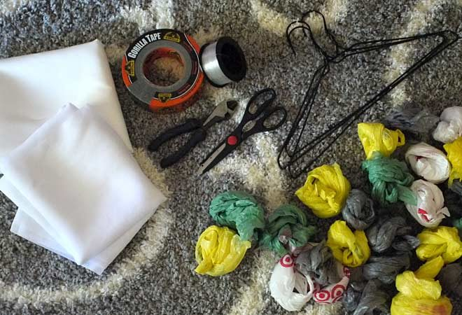 tools and supplies for fabric ghosts
