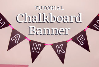 DIY chalkboard banner tutorial